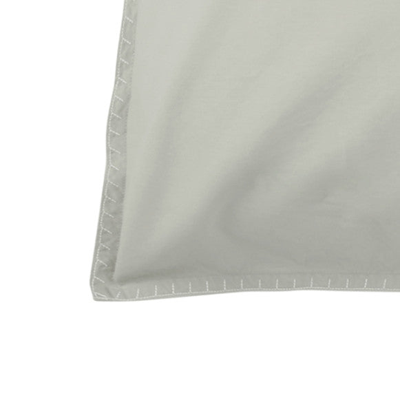 Stone Wash Percale Duvet  - Oyster