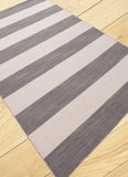 Rand Broad Stripe Rug - Grey/White