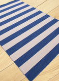 Rand Stripe Rug - Navy/Natural White