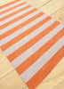 Rand Stripe Rug - Orange/White