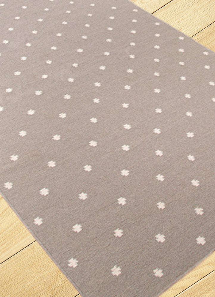 NEW Spotty Rug - Grey/White