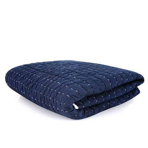 Scallop Duvet Set - Blue