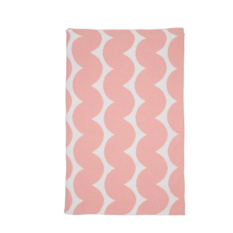 Fitted Cot Sheet - Knotty Stripe Pink