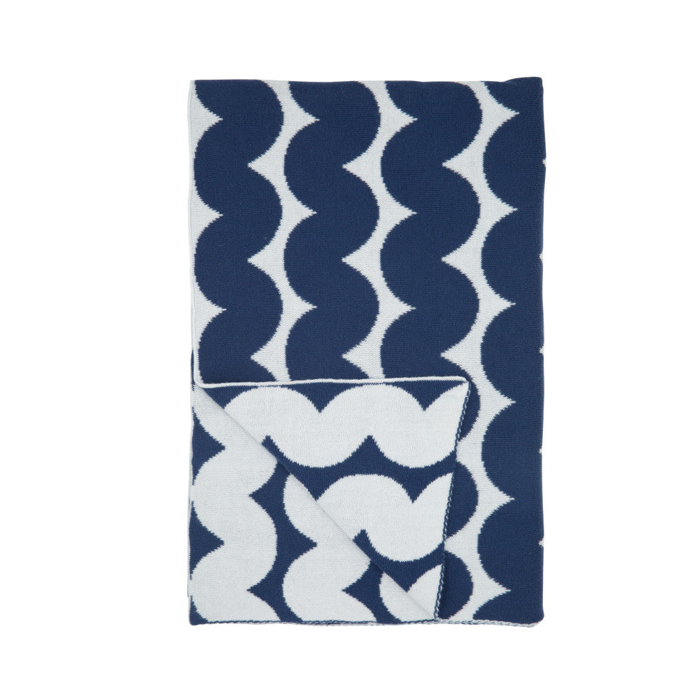 NEW Wave Blanket - Marine Blue