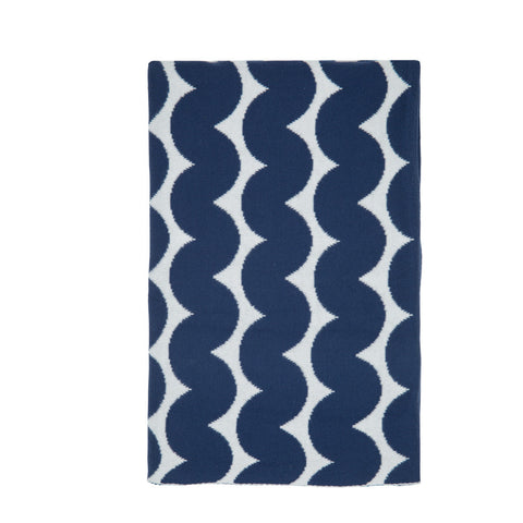 Fitted Cot Sheet - Arrow Stripe Navy