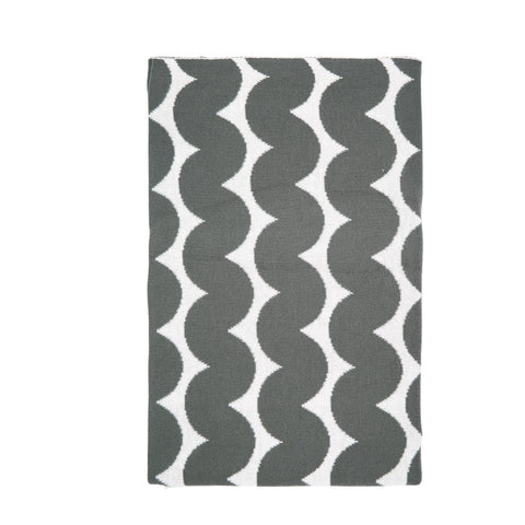 Fitted Cot Sheet - Cross Hatch Grey