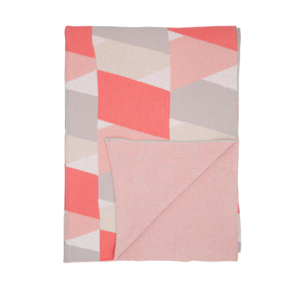 NEW Zig Zag Blanket - Pink/Grey
