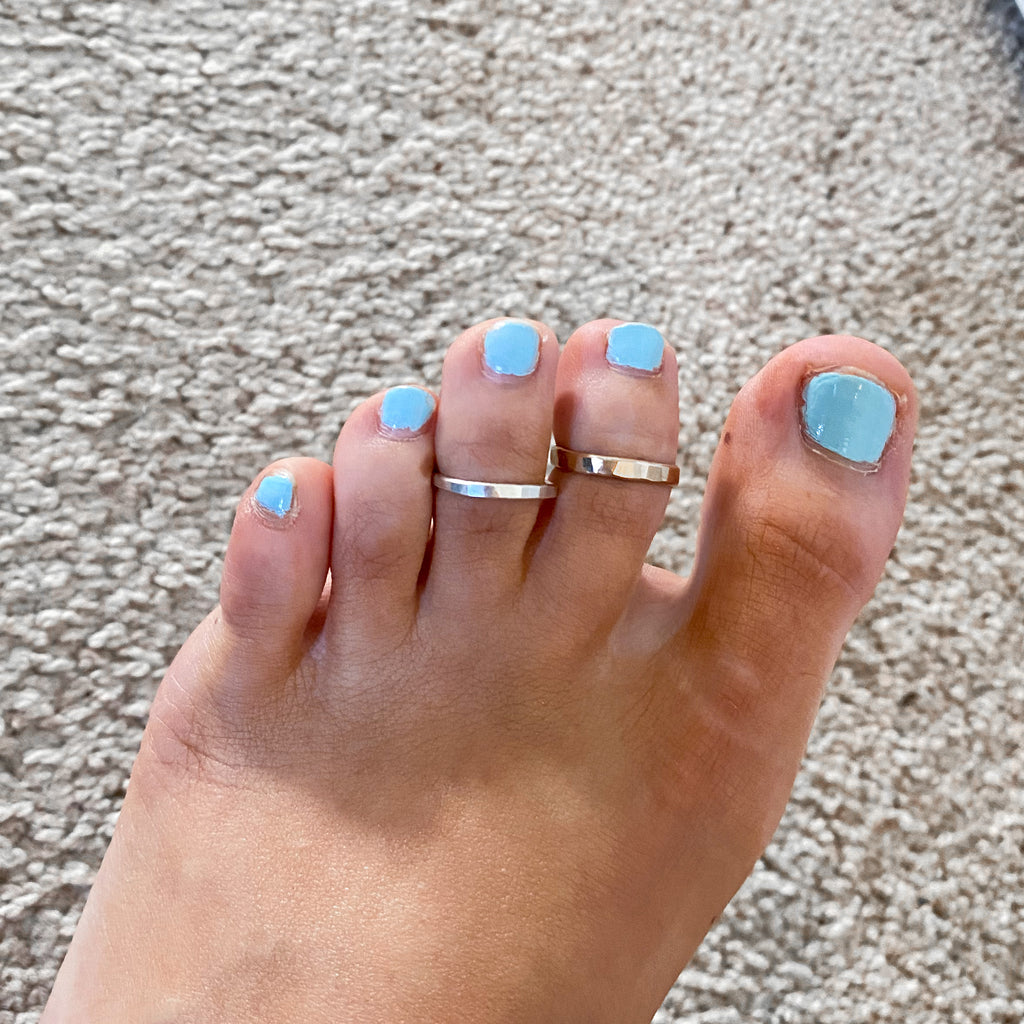 Textured Toe Ring