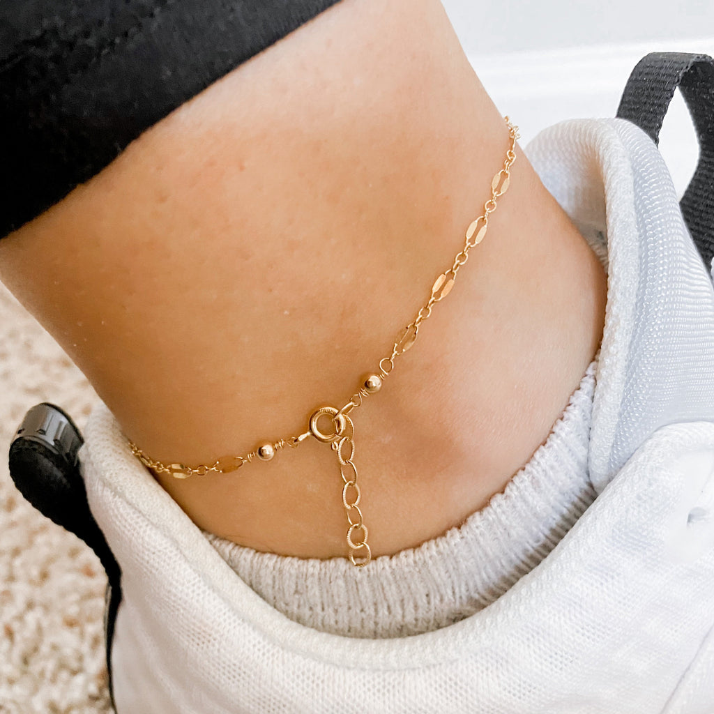 Prosecco Gold Chain Anklet