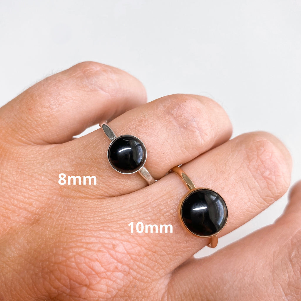 10MM Black Onyx Ring