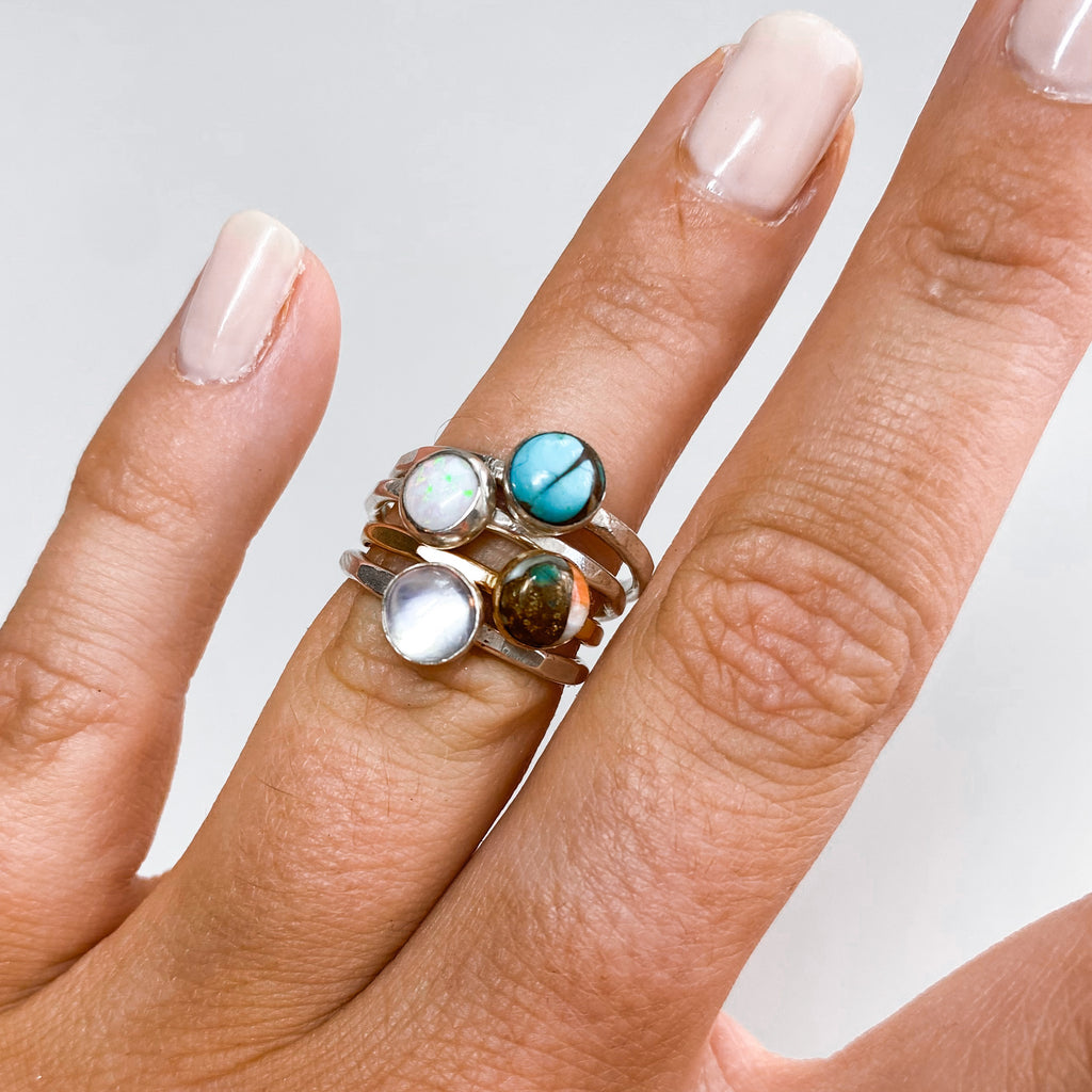 6MM Spiny Oyster Copper Turquoise Ring