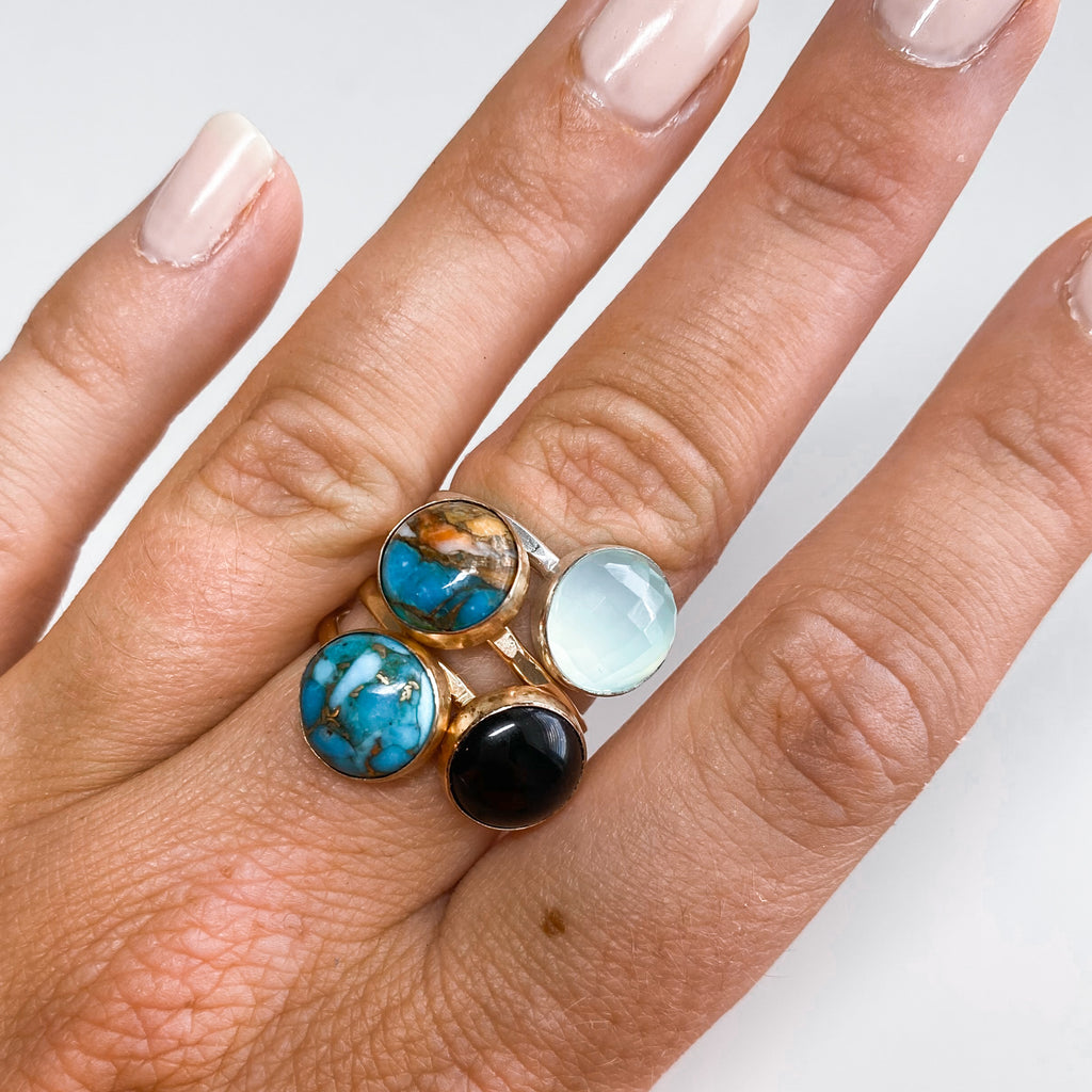 10MM Copper Turquoise Ring