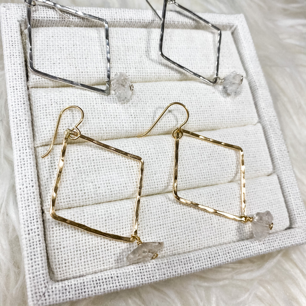 Diamond Gemstone Hoops