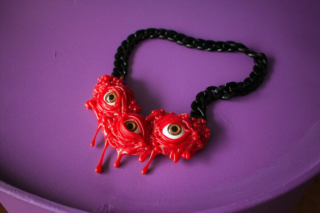 DRIPPING NECKLACE red