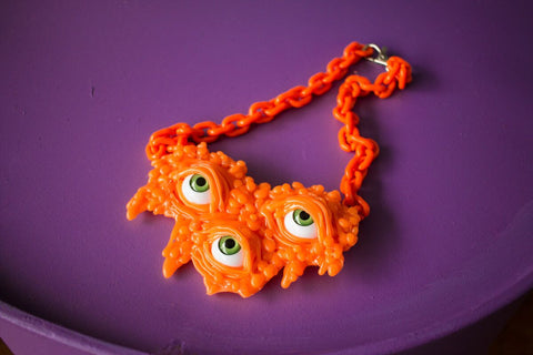 DRIPPING NECKLACE neon orange
