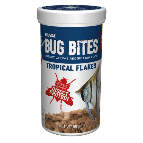 FLUVAL BUG BITES TROPICAL FLAKES (90GM)