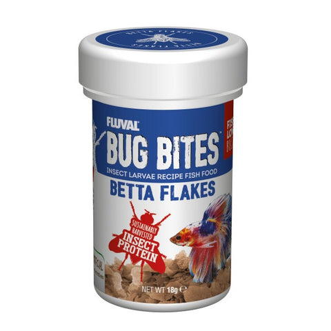 FLUVAL BUG BITES BETTA COLOUR FLAKES (18GM)