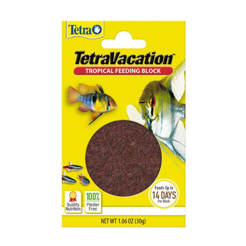 TETRA VACATION TROPICAL FEEDING BLOCK 30GM 14 DAYS