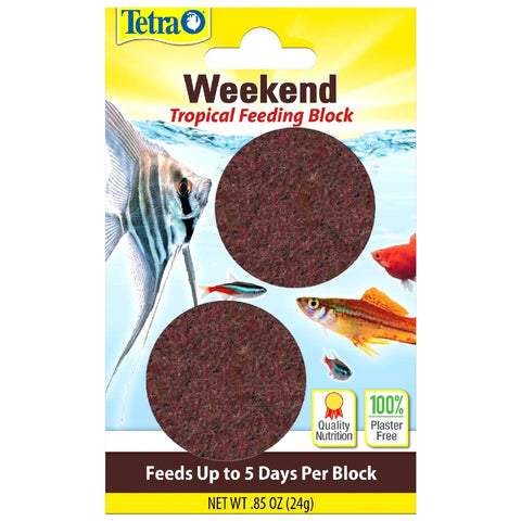 TETRA WEEKEND TROPICAL FEEDING BLOCK 24GM 5 DAYS