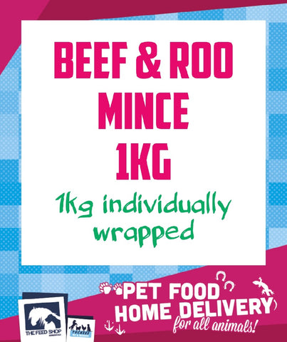 BEEF AND ROO MINCE 1KG FROZEN