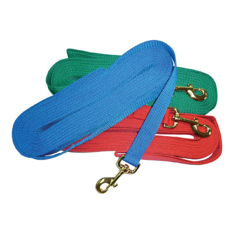 LUNGE LEAD - NYLON (ASSORTED COLOURS) 30FT