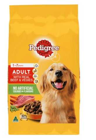 PEDIGREE ADULT DOG BEEF AND VEGIES 20KG
