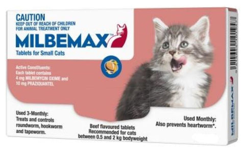 MILBEMAX SMALL CAT UP TO 2KG (SINGLE)