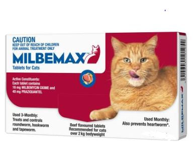MILBEMAX LARGE CAT OVER 2KG (SINGLE)