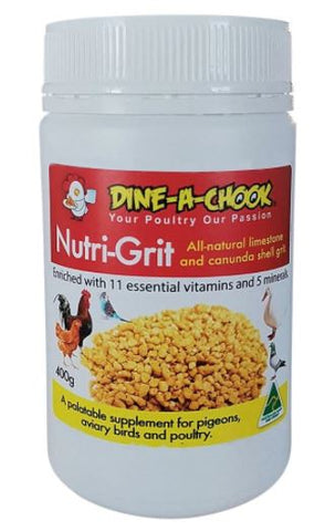 DINE A CHOOK NUTRI GRIT 400GM