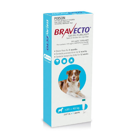 BRAVECTO SPOT ON DOG 20-40KG