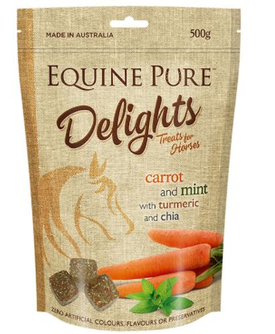 EQUINE PURE DELIGHTS 500GM CARROT AND MINT