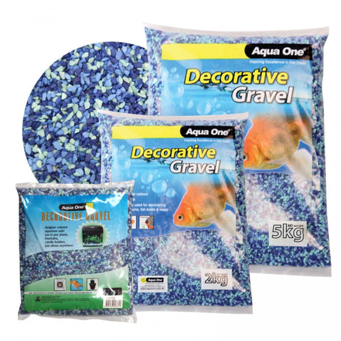 DECORATIVE GRAVEL 1KG BLUE