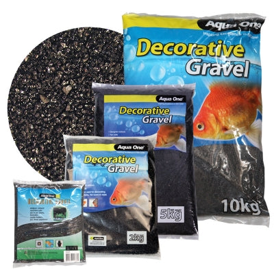 DECORATIVE GRAVEL 1KG BLACK