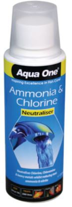 AQUA ONE AMMONIA REMOVER CHLORINE NEUTRALISER 250ml