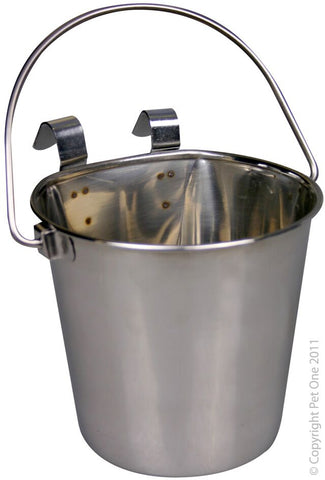 S/S PAIL HANGING FLAT SIDED 2.25L