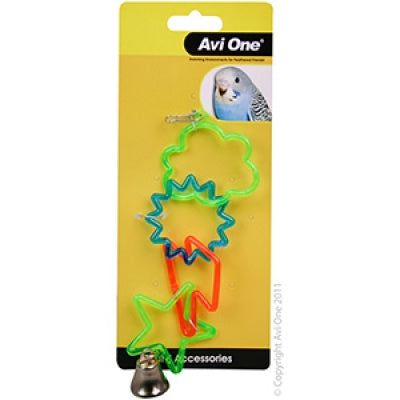 BIRD TOY - SKY RINGS With BELL