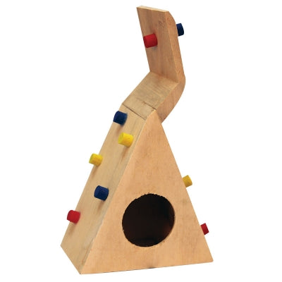 MOUSE PLAYHOUSE CLIMBING WALL WOOD 12x7.5x21CM