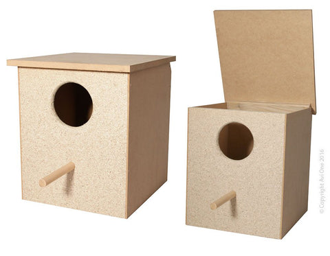WOODEN LARGE PARROT NEST BOX