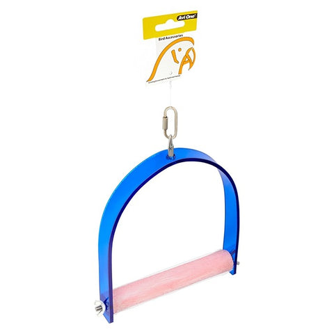 PARROT SWING ACRYLIC WITH CONCRETE PERCH S 11.5X