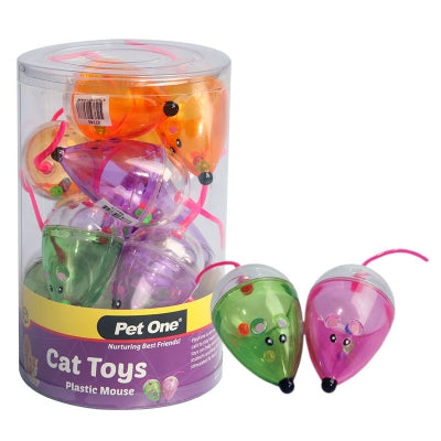 CAT TOY - PLASTIC MOUSE (WITH BALLS INSIDE)