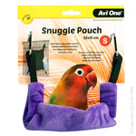 BIRD SNUGGLE POUCH SMALL 22X15CM GRAPE