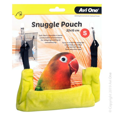 BIRD SNUGGLE POUCH SMALL 22X15CM LIME