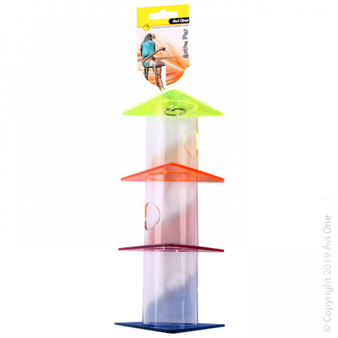 PARROT TOY ACRYLIC FORAGING TRIANGLES STACK LARGE 34CM