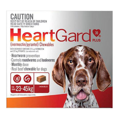 HEARTGUARD PLUS BROWN 23-45KG 6'S