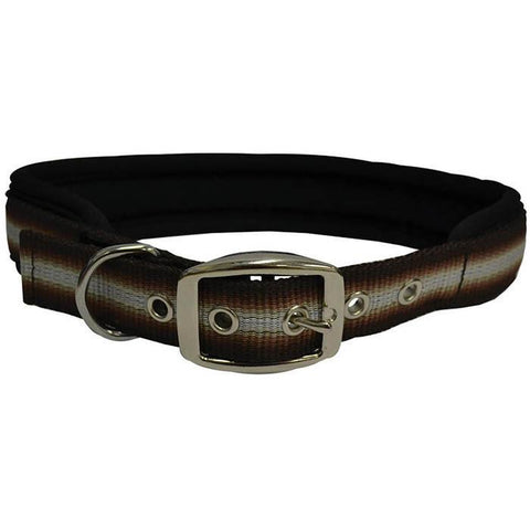 "ZEEZ MEMORY FOAM PADDED COLLAR 1"" X 30"" (BROWN RIBBON 76CM)"