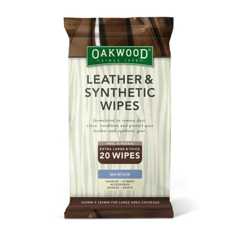 OAKWOOD LEATHER AND SYNTHETIC WIPES X 20