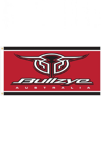 BULLZYE LOGO FLAG (RED/BLACK