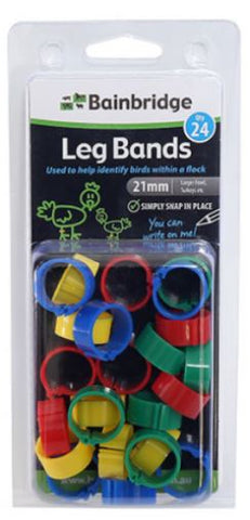 POULTRY LEG RINGS 12MM MIXED (24PK)