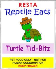TURTLE (BABY) TID BITS 250GM - REPTILE EATS