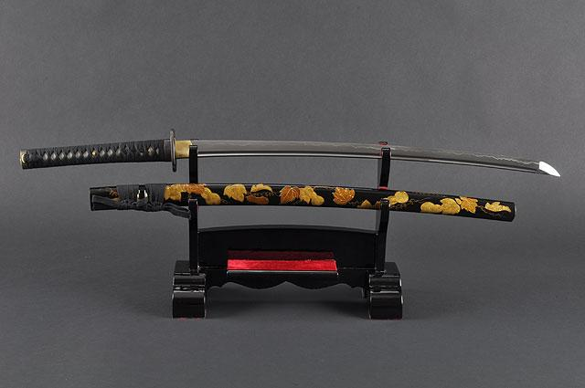 FULLY HAND FORGED BLACK FULL TANG CRANE JAPANESE SAMURAI KATANA SWORD